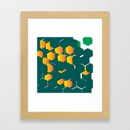 hexágono Framed Art Print