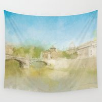 rome Wall Tapestries featuring Rome by FarbCafé