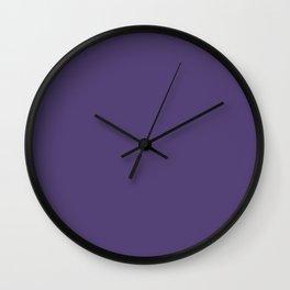 Gentian Violet Color Accent Wall Clock