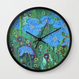 Himalayan Poppies Wall Clock