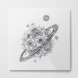 Flowery Planet. Metal Print