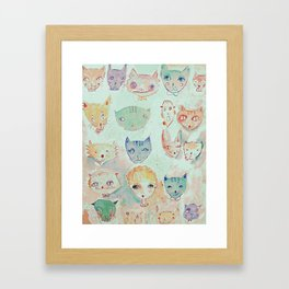 The Cat Lady Framed Art Print