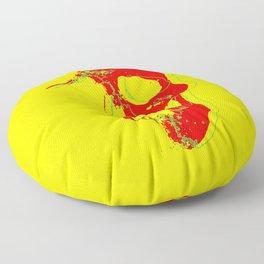 Skull - Red Floor Pillow