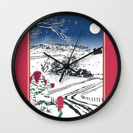 Silent Winter Night Silhouette Wall Clock