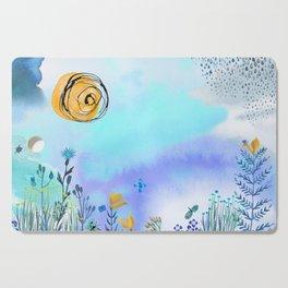 Blue Garden II Cutting Board