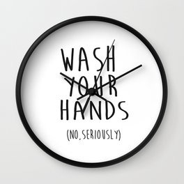 Wash Your Hands Bathroom Print Bathroom Decor Nursery Print Nursery Quote So Fresh And So Clean Wall Clock