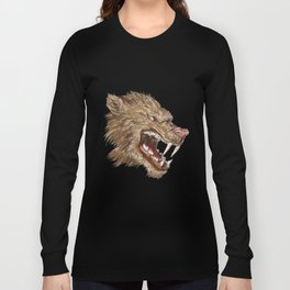 Head with sharp teeth Long Sleeve T-shirt