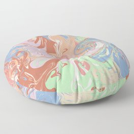 Modern Marble in Pastel Earthtone Floor Pillow