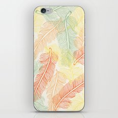 Feathers in the air iPhone & iPod Skin