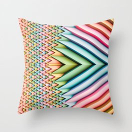 Sun Shard II. Pastel Abstract Chevron Throw Pillow