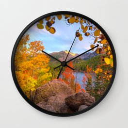 Fall In The Rocky Mountains Wall Clock