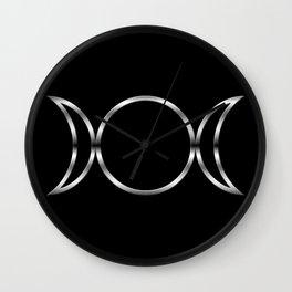 Triple Goddess Symbol Wall Clock