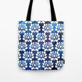 Waratah on blue watercolour Tote Bag