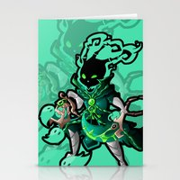 league of legends Stationery Cards featuring League of Legends - Thresh by kirueru
