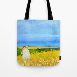There's a Ghost in the Wheat Field Tote Bag