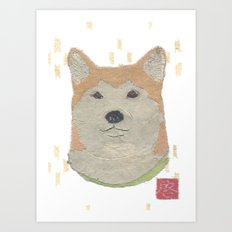 Shiba Inu, Dog, Japanese Art Print