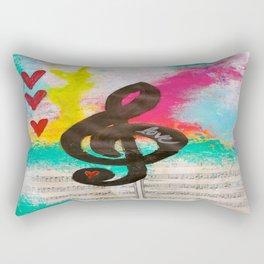Treble Love Rectangular Pillow