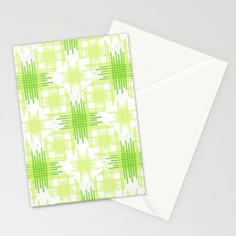 Intersecting Lines Pattern Design Stationery Cards