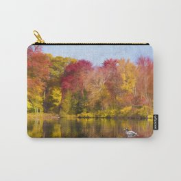 Autumn Pond With Mallard Duck Carry-All Pouch