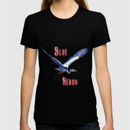 Flying (Blue Heron) T-shirt