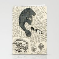 manatee Stationery Cards featuring Manatee by Cassidy Tebeau