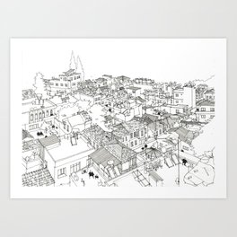 Rooftops of Mersin, Turkey Art Print
