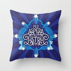 Through Hardship To The Stars Throw Pillow