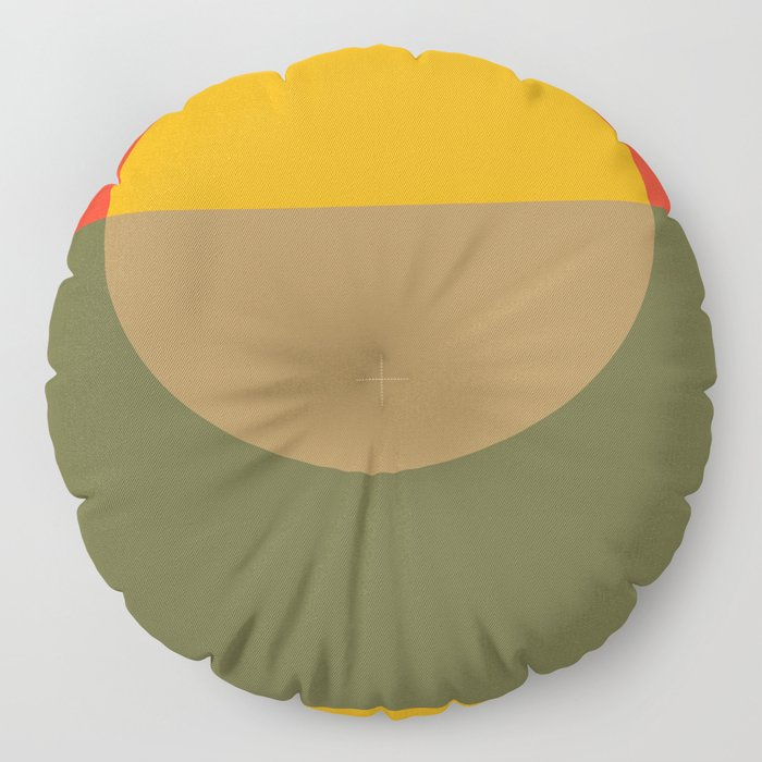 Spring- Pantone Warm color Floor Pillow