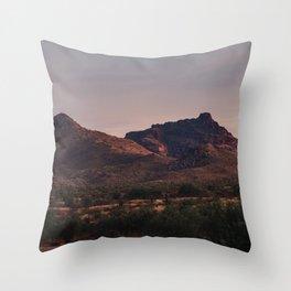 Red Mountain Sunset Throw Pillow