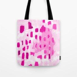 Zimta - pink abstract painting dots mark making canvas art decor Tote Bag