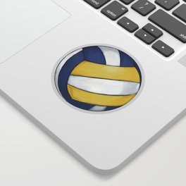 Volleyball Art Sticker