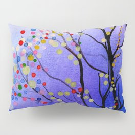 sparkling winter night sky Pillow Sham
