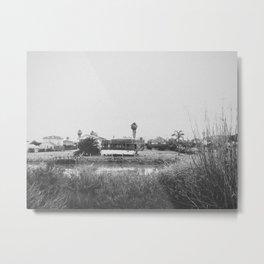 ALVISO II (B+W) Metal Print