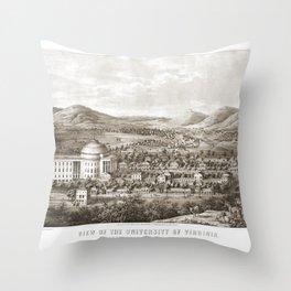 VIRGINIA University map CHARLOTTESVILLE dorm decor graduate Throw Pillow
