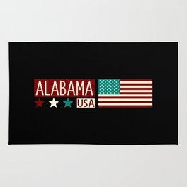Patriotic Colors: Alabama Rug