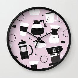 Do you even coffee? (blush pink) Wall Clock