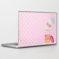 macarons Laptop & iPad Skins featuring MACARONS & STARS  by Monika Strigel
