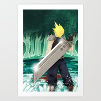 final fantasy Art Prints featuring Final Fantasy by LynxArtCollection