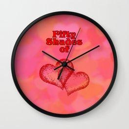 Fifty Shades of Love Wall Clock