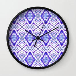Dye Diamond Iridescent Blue Wall Clock