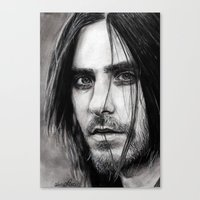 jared leto Canvas Prints featuring Jared Leto by Luna Perri