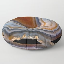 Layered agate geode 3163 Floor Pillow