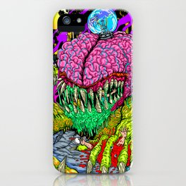 Bulb Brain Critic Destroyer iPhone Case