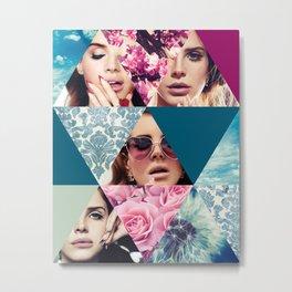 Lana Del Floral Metal Print
