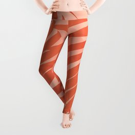 Terracotta Palm Leaves / Sunset Illustration Leggings