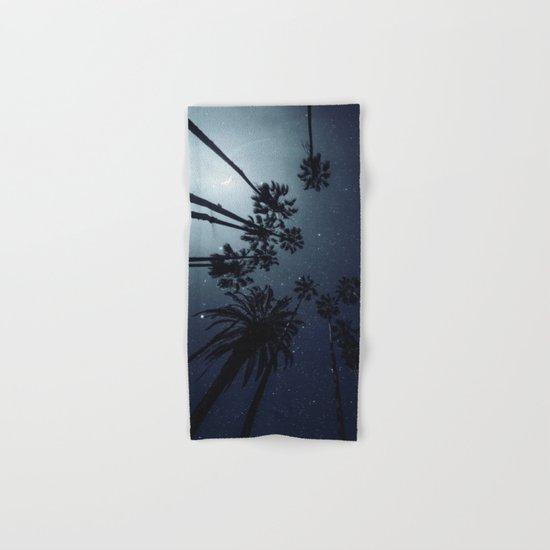 Palm Trees, Night Sky, Stars, Moon Hand & Bath Towel