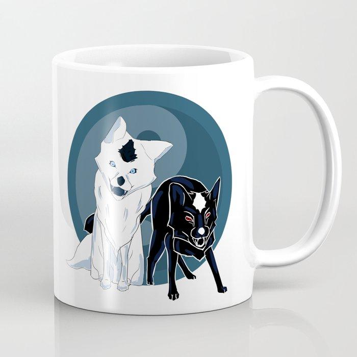 Yin and Yang foxes Coffee Mug