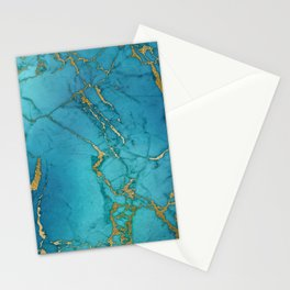 Electric Blue Marble Stationery Cards