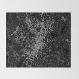 Austin map Texas Throw Blanket