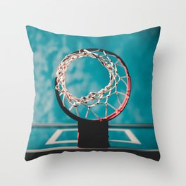 basketball hoop 6 Throw Pillow